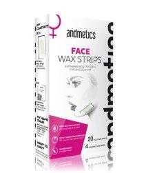 andmetics Face Wax Strips Kaltwachsstreifen