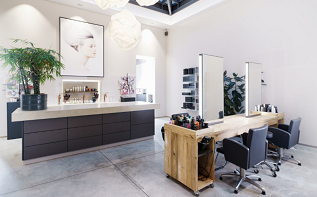 Flaconi Concept Store Friseurbereich