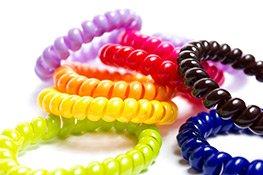 Spiral-Haargummi farbig