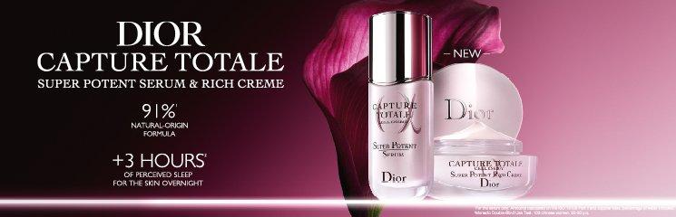 Dior Capture Totale Produkte und Frau