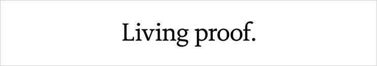 Living Proof - Jetzt entdecken!