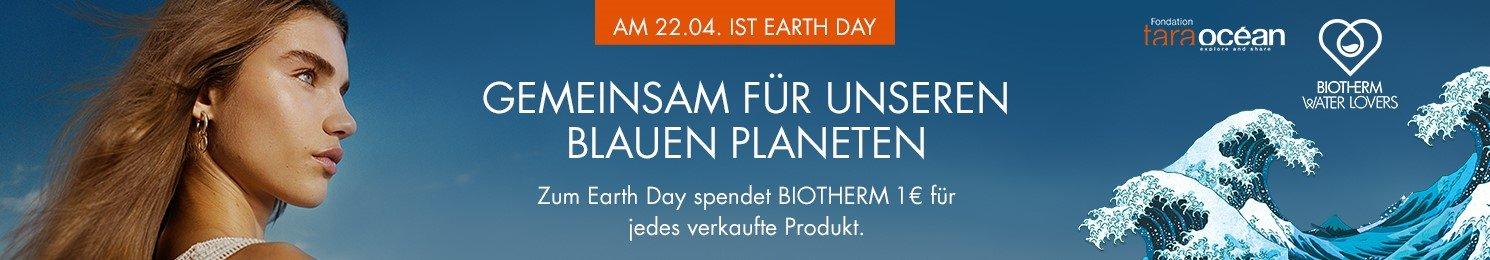Biotherm spendet pro Produkte 1€ zum Earth Day