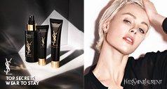 Gesichtspflege Produkte von Yves Saint Laurent und Frau