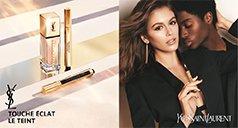 Gesichts Make-up Produkte von Yves Saint Laurent und Frauen